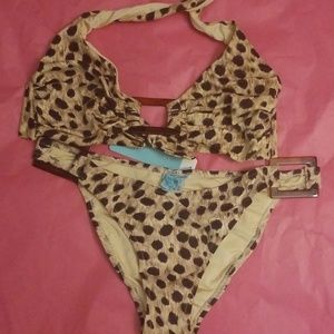 NWT Melissa Odabash Cheetah Print Bathing Suit